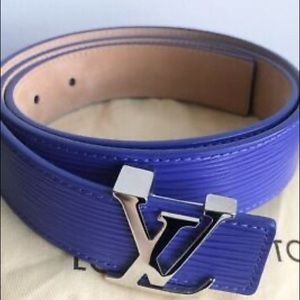 Louis Vuitton Purple Epi Leather LV Initials Belt